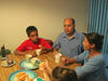 Bhutanese family eating a meal