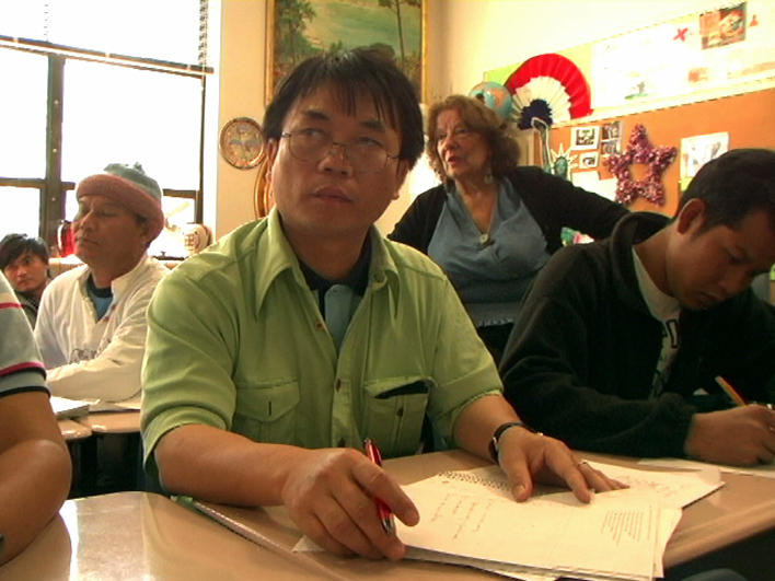 Refugees from Burma in an ESL class