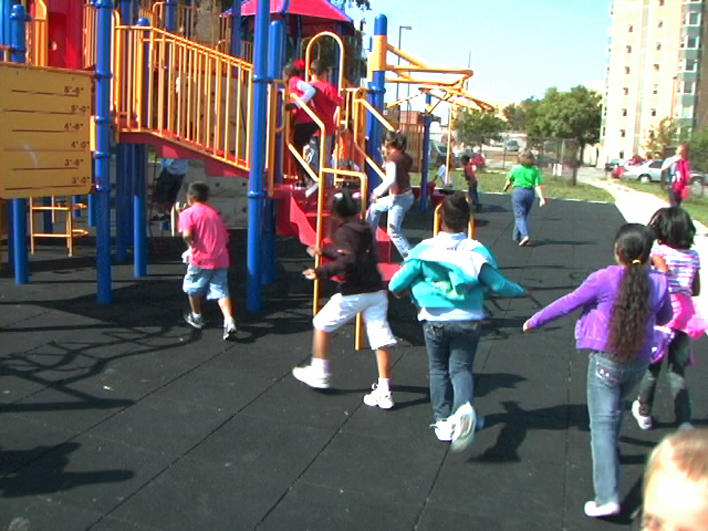 Children on school playground