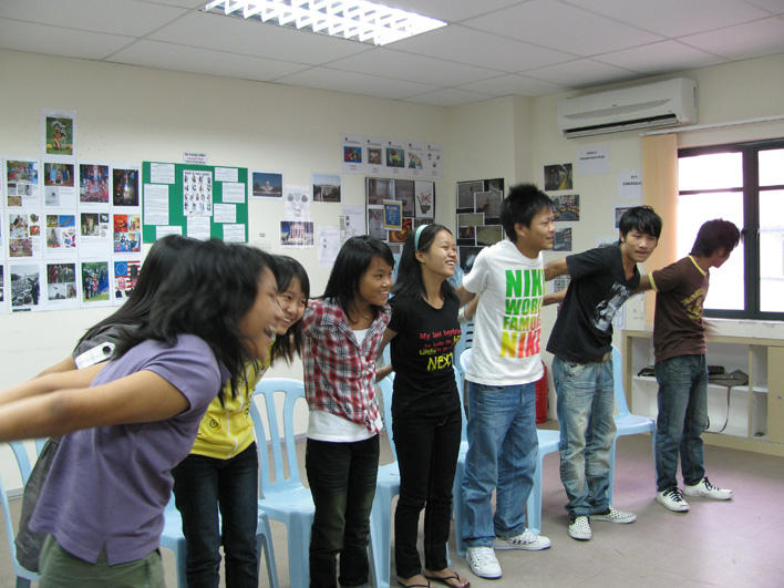 Activity during youth cultural orientation class