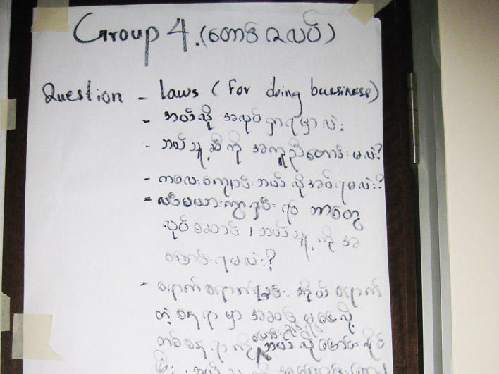 Group contributions on rights and responsibilities
